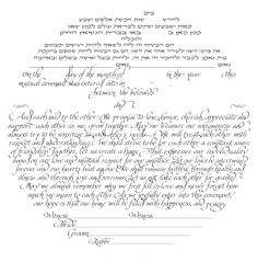 Ketubah text digital file  calligraphic personalization/text fill-in included by KetubahLA on Etsy