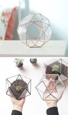 Handmade Geometric Terrariums By Waen