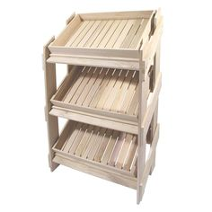 Wooden Display Stand with Contemporary Chitting Trays | WBC