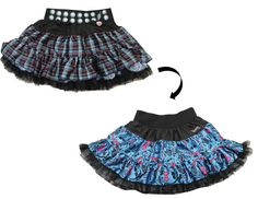 Your Child Can Look Like Her Favorite Monster High Characters With This Great Reversible Pettiskirt Featuring A Shiny Plaid Design With Metal Stud Look On The Waist Part Of The Skirt And Reverses To A Vivid Electric Blue And Pink Monster High Insig Monster High Halloween, Morris Costumes, High Skirts, Girl Costumes, Children Costumes, Costume Ideas, Blue Costumes, Plaid Design, Costume Shop
