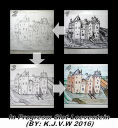 https://flic.kr/p/HyHncb | In Progress: 22 | Slot Loevestein  1=First Sketch  www.flickr.com/photos/116827835@N07/27280730053/in/photos... 2=Second Sketch www.flickr.com/photos/116827835@N07/27280729133/in/photos... 3=Inking www.flickr.com/photos/116827835@N07/27280729623/in/photos... 4=Finished www.flickr.com/photos/116827835@N07/27280786564/in/photos...