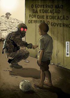 """The government does not give education because Education takes down a government"" ~~ isnt exactly an accurated translation Cyberpunk, Satire, Apocalypse, Graffiti, Street Art, Sci Fi, Nerd, Thoughts, Humor"