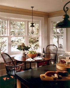Kitchen chairs - I like this look... Use Miss Nickel's table and chairs like these