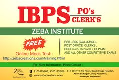 Is Your #Goal is to do #Bank Job? Then Take #Admission in #Zeba Institute to Achieve your Goal. #Facilities Provided:- 300+hours Class Weekly Test's, FREE Unlimited #Online Mock Exams. free Registration click on the link http://www.zebacreations.com/bankregister.html