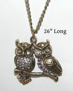 Love Owls Necklace Free Shipping