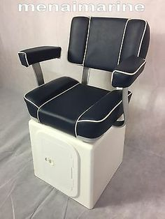 Captains boat seat with GRP seat storage swivel, hatch and Solid base Fishing Boat Seats, Pontoon Boat Seats, Fishing Pontoon, Fishing Boats, Pontoon Boat Accessories, Boat Console, Boston Whaler, Yacht Interior, Aluminum Boat