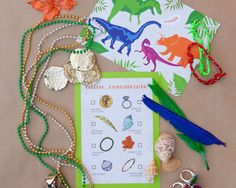 Dinosaur Safari Scavenger Hunt - the perfect party game! Buy now @ revelbee.com