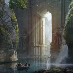 Science Fiction Illustration Fantasy Art Artists Ideas For 2019 Fantasy City, Fantasy Places, Fantasy World, High Fantasy, Medieval Fantasy, Fantasy Art Landscapes, Fantasy Landscape, Landscape Art, Landscape Concept