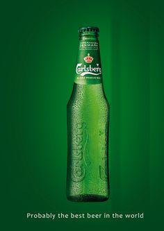 carlsberg probably the best beer in the world - Sök på Google Successful Marketing Campaigns, Best Beer, Craft Beer, Beer Bottle, Good Things, Drinks, World, Cake Decorating, Packaging