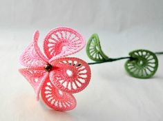 Curly Flower in Pink