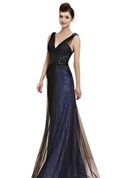 53e7036e30 CharliesBridal Navy Blue Backless V-Neck Floor Length Evening Gown  Designer Brand   CharliesBridalColor   Navy BlueNeckline   V-Neck