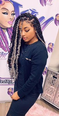 Passion Twists With a Hint of Grey Passion Twists With a., Passion Twists With a Hint of Grey Passion Twists With a. Passion Twists With a Hint of Grey Passion. Black Girl Braids, Braids For Black Hair, Girls Braids, Black Girls Hairstyles, African Hairstyles, Trendy Hairstyles, Scene Hairstyles, Long Haircuts, Protective Hairstyles
