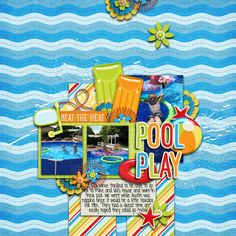 Digital Scrapbook Page by Britt | Summer Adventures: Cool In The Pool by Bella Gypsy Designs