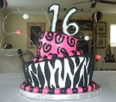 sweet+16+cakes+for+girls | sweet 16 cake this cake was ordered for a girls 16th birthday the ...