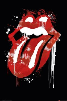 Rolling Stones - Graffiti Lips - Official Poster. Official Merchandise. Size: 61cm x 91.5cm. FREE SHIPPING