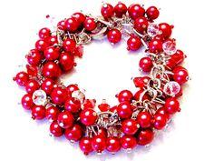 Rosso perla e bracciale in cristallo di SeagullSmithJewelry
