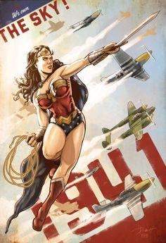 Wonder Woman 1941 - We own the sky! by Kopetkai #Wonder_Woman #Comics #Comic_Book
