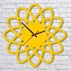 Zegar ścienny 4MyArt Edt Elipse żółty | sklep PrezentBox - akcesoria, zegary ścienne, prezenty