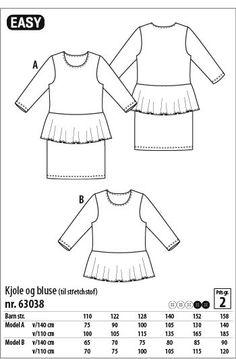 Kjole og bluse - 63038 - Stof & Stil