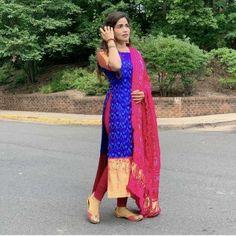 Silk Kurti Designs, Churidar Designs, Kurta Designs Women, Kurti Designs Party Wear, Lehenga Designs, Long Dress Design, Dress Neck Designs, Stylish Dress Designs, Stylish Dresses