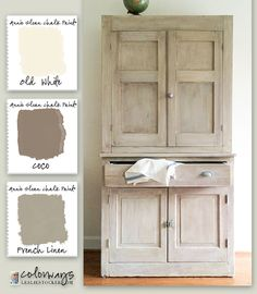 Pine Sideboard - Annie Sloan Chalk Paint - Old White, Coco, French Linen by Colorways with Leslie Stocker Furniture Projects, Furniture Making, Furniture Makeover, Diy Furniture, Dresser Makeovers, Kitchen Furniture, Furniture Design, Refurbished Furniture, Rustic Furniture