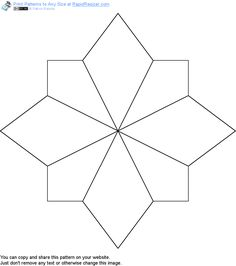 Free Snowflake pattern. Get it and more free designs at http://Online.RapidResizer.com/patterns.php