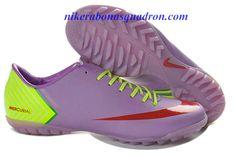 Hot Sale Cheap New Soccer Shoes 2013 Nike Mercurial Vapor X TF Boots - Plum Red Fluorescent Green