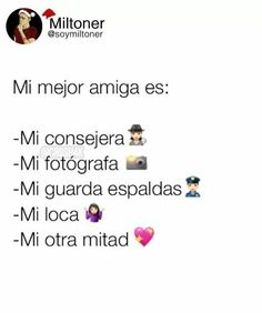 mejor amigaa Love You Friend, Card Captor, Best Friend Pictures, Bff Goals, Best Friends Forever, Photo Quotes, Spanish Quotes, Happy Smile, Bffs