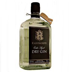 Raisthorpe Oak Aged Dry Gin using Yorkshire Wold spring water available to buy online at specialist whisky shop whiskys.co.uk Stamford Bridge York