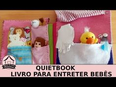O quiet book é um livro que é um carinho em forma de tecido. Um ótimo brinquedo para os bebês e crianças pequenas. Esse foi feito manualmente pela Renata M.,...