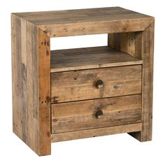Kosas Home Oscar Natural Recovered Shipping Pallets Handcrafted 2-drawer Nightstand