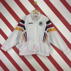 1f76b283e21e Vintage 90s Adidas Jacket Adidas Football Germany Jacket Adidas Three  Stripe Jacket Adidas Track Jacket Adidas Mens Color Block Size Medium