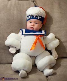 Stay Puft Marshmallow Man - Baby Halloween Costume Idea