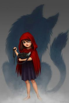 Little Red Riding Hood by Fernanda Suarez Red Riding Hood Wolf, Little Red Ridding Hood, Lobo Anime, Character Art, Character Design, Charles Perrault, Red Hood, Sexy Cartoons, Illustrations
