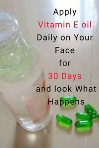 I Apply Vitamin E oil on my Face & look what happened, cryst.- I Apply Vitamin E oil on my Face & look what happened, crystal clear skin, spotless skin, No More Dark Spots How to use vitamin E oil to make your skin crystal clear - Natural Beauty Tips, Natural Skin Care, Best Beauty Tips, Organic Skin Care, Natural Oils, Vitamine E Capsules, Beauty Care, Beauty Skin, Diy Beauty