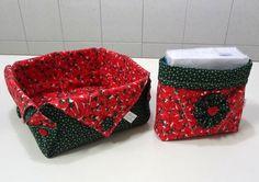 Kit de cesta pra pão e porta guardanapo…