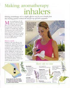 Making aromatherapy inhalers