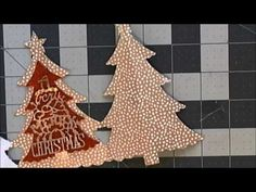 cardmaking video: Sizzix Fold a Long Christmas Tree Cards .. die cut card wth fun folds ... like how she decorated her envelopes too ...