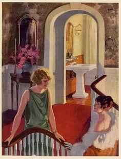 Image result for 1925 bathroom illustration
