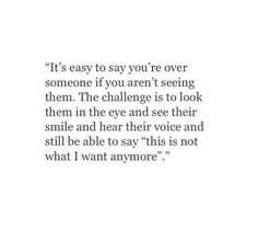That's why you refuse to see me.