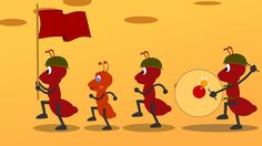 Ants go marching is a popular song loved by all kids. Here are the lyrics : The ants go marching One by one Hurrah.. hurrah.. the ants go marching one by one...