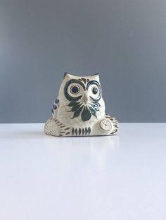 Vintage Tonala Mexican Pottery Owl Vintage Pottery Owl