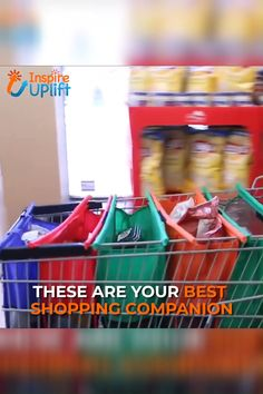 Best 12 Reusable Grocery Trolley Bags 😍 These MAGIC, Reusable Grocery Trolly Bags (SET of FOUR BAGS) are your new Shopping Companion! No more need for those environmentally unfriendly, plastic bags! You can feel good that you're helping to Save The En