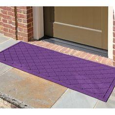 "Darby Home Co Aqua Gretchen Argyle Doormat Rug Size: Rectangle 22"" x 60"", Color: Purple"
