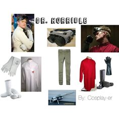 """""""Dr. Horrible"""" by cosplay-er on Polyvore. My costume for next year."""