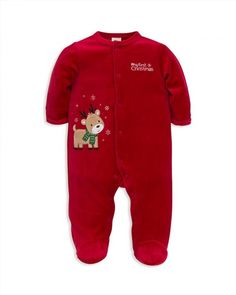 c886ff7b1 Little Me Baby Boys' Footed Reindeer Pajamas Kids - All Baby - Macy's