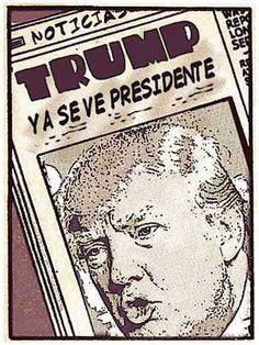 Donald Trump caricatura y noticias última hora