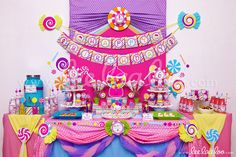 Title: Sweet Candy Birthday Party Theme - B88 II To find the invitations, packages, and individual items for this theme, please visit: www.LeeLaaLoo.com