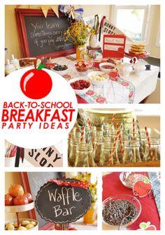 Boy's Back To School Breakfast Party Ideas