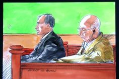 Roger Rogerson and Glen McNamara at their murder trial